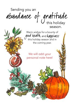 Sending you an abundance of gratitude