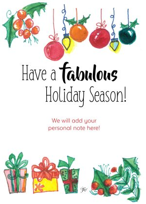 Have a fabulous holiday season!